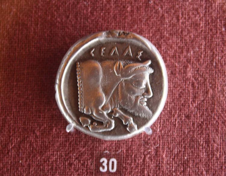 Toro con cabeza de hombre, Gela (Jehosua)