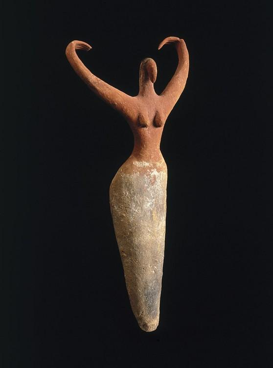 Estatuilla femenina, Egipto predinástico (Museo de Brooklyn)