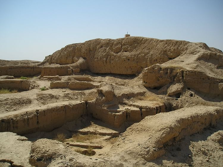 Remains of the ziggurat attached to the so-called Temple of Lions at Mari