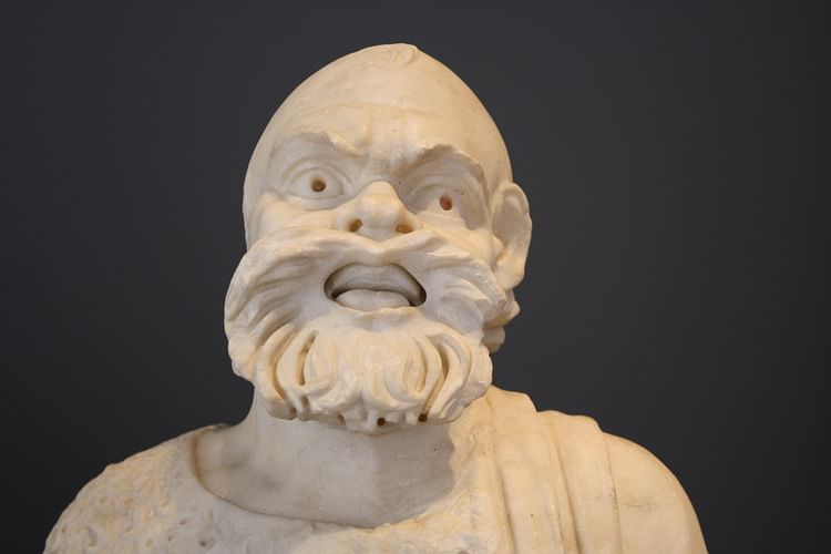 Actor with Mask of Silenus