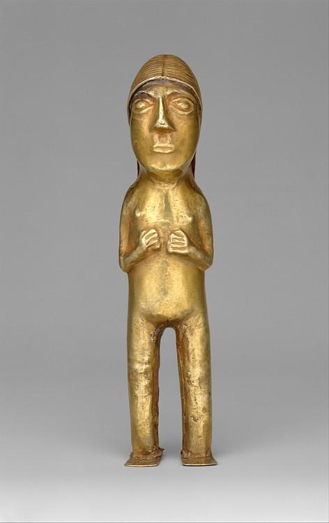 Figurita femenina Inca Gold (Museo Metropolitano de Arte, N.Y.)