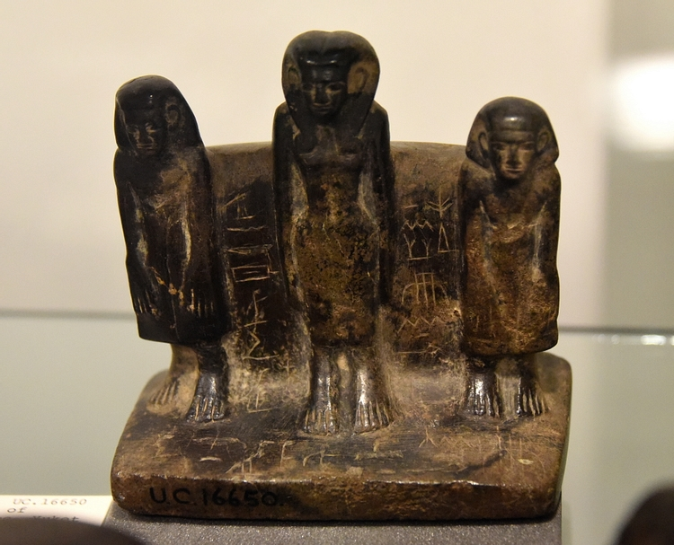 Woman & Two Sons, Middle Kingdom Statuette