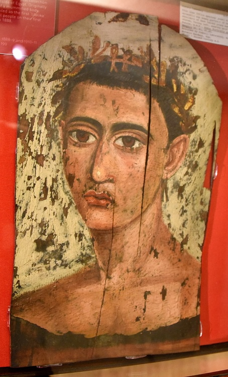 Male Mummy Portrait, Hawara