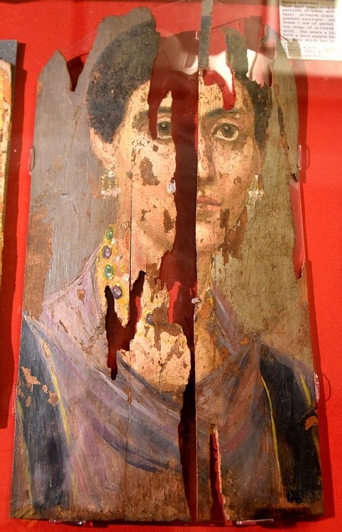 Jewelled Lady Mummy Portrait from Hawara