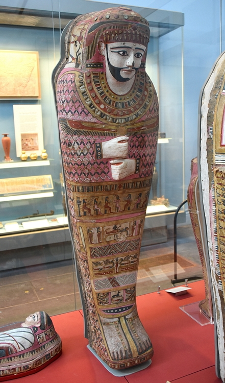 Painted anthropoid mummy case of a man