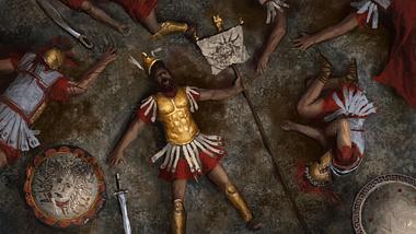Hoplite griego caído (La Asamblea Creativa)