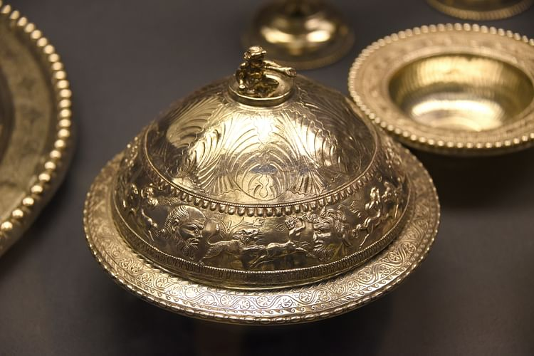 Flanged Bowl & Cover from The Mildenhall Treasure