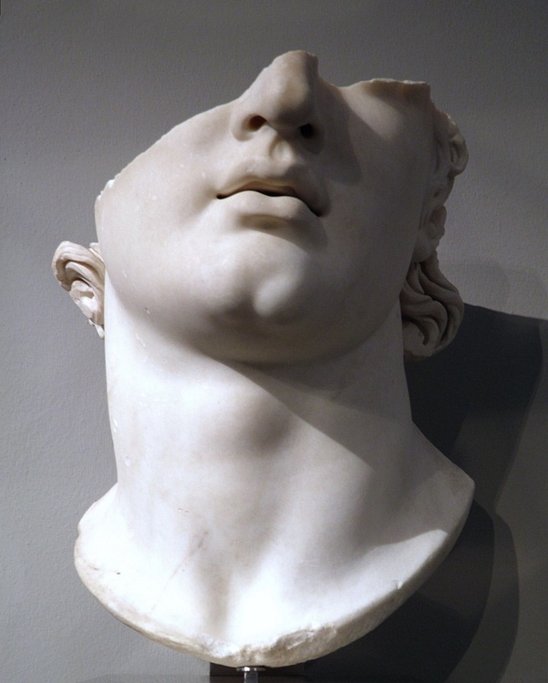 Hellenistic Colossal Head of a Youth