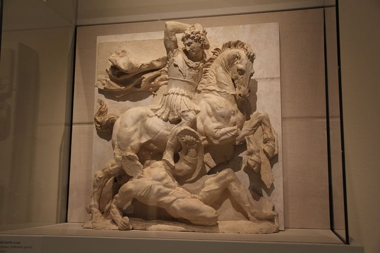 Metope with Pyrrhus in Battle (Jehosua)