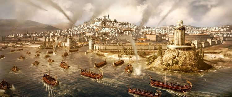 Ataque Naval Romano em Carthage (The Creative Assembly)
