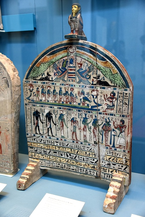 Painted Wooden Stela of Neswy