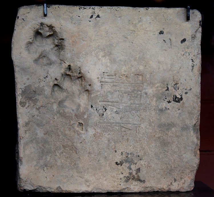 Mud-Brick With a Dog's Paw Print from Ur