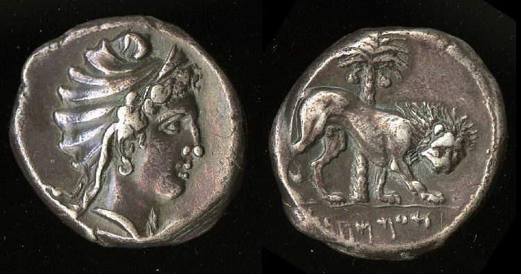 Dido, Carthaginian Tetradrachm (The British Museum)