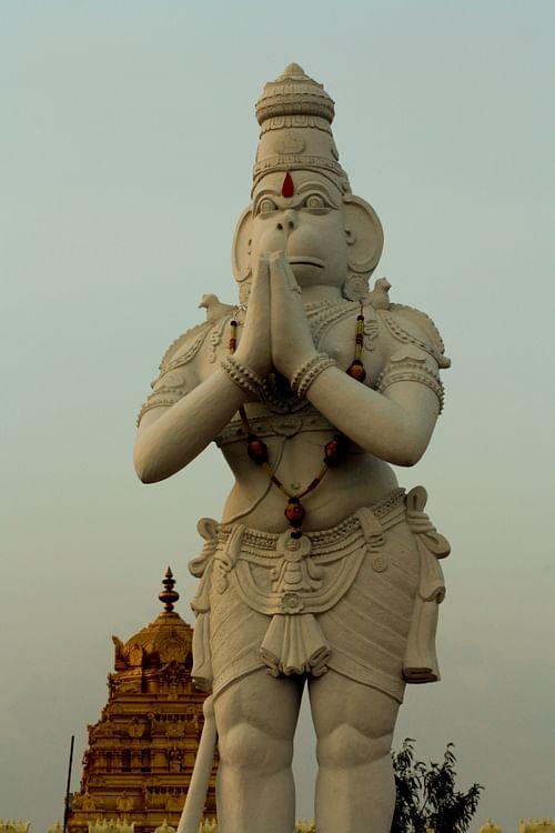 Estatua monumental de Hanuman (Puja 1984)