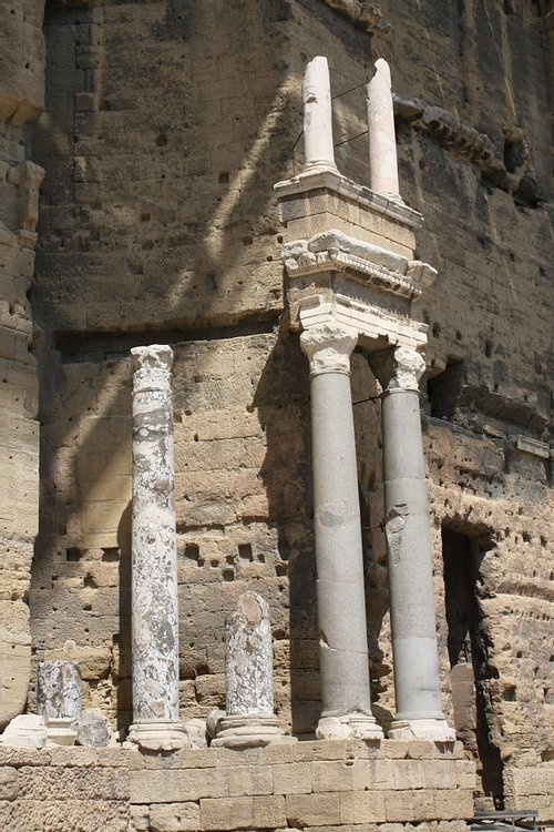 Columns, Orange Theatre Stage Wall Facade