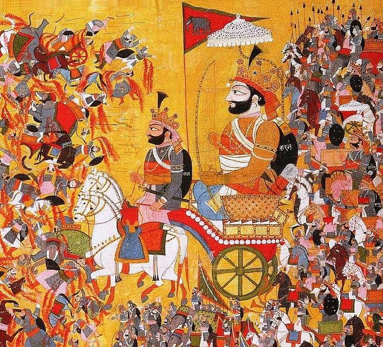 Karna in the Kurukshetra War (Unknown Artist)