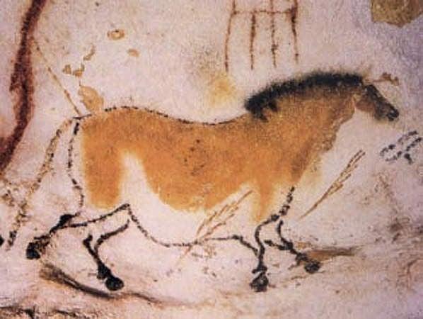 Pintura de un caballo, cueva de Lascaux (Sevela.p)
