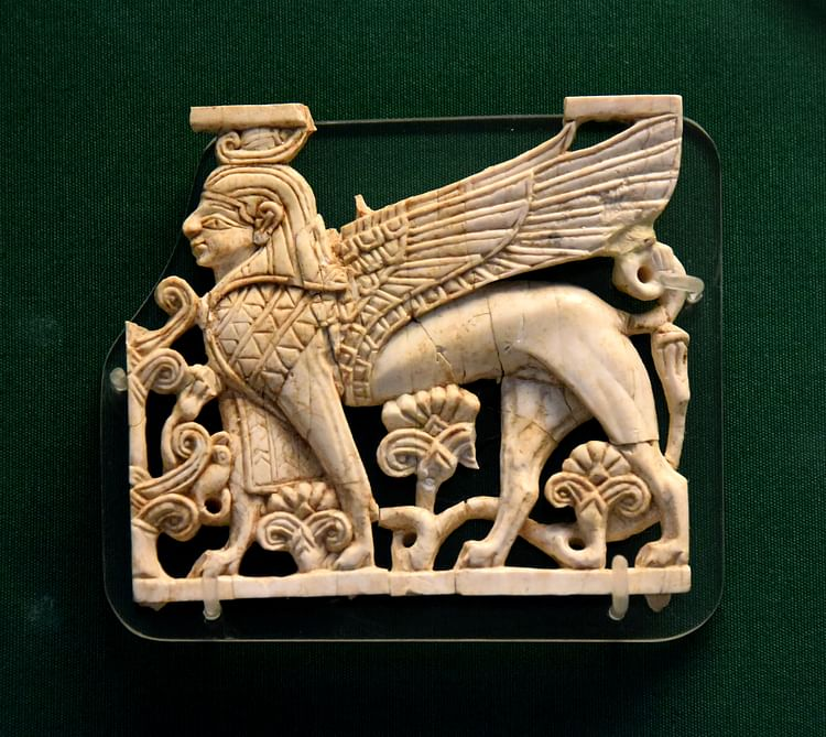 Nimrud Ivory Plaque of an Egyptian Sphinx