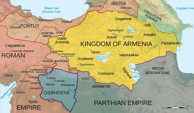 Map of Armenia, 50 CE (Illustration) - Ancient History Encyclopedia