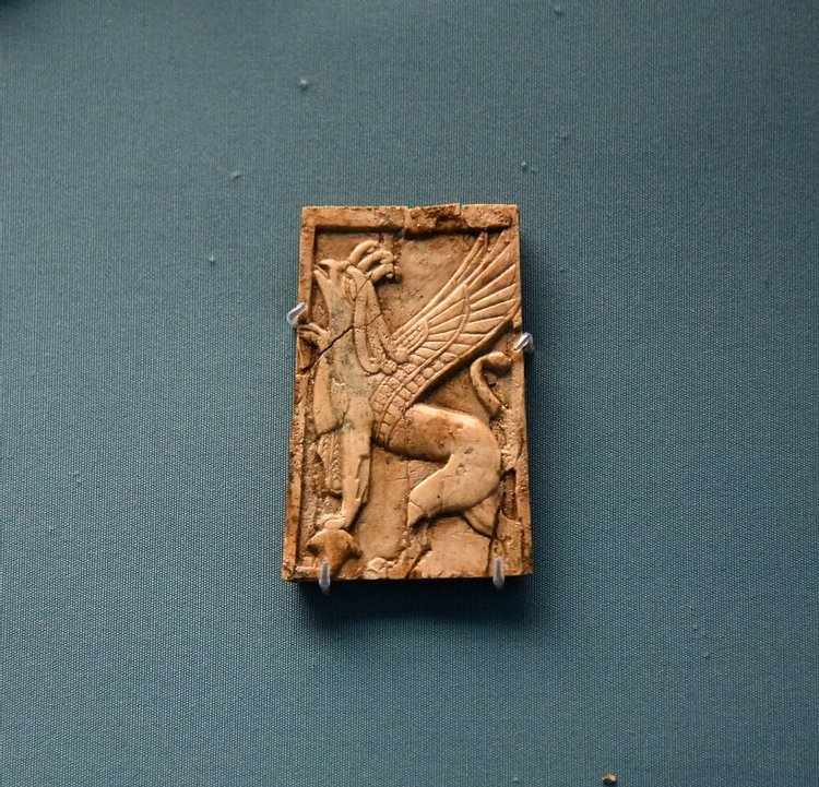 Nimrud Ivory Panel of a Winged Animal
