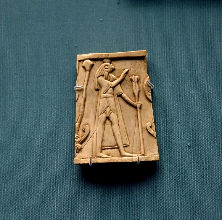 Nimrud Ivory Panel of a Falcon-headed God