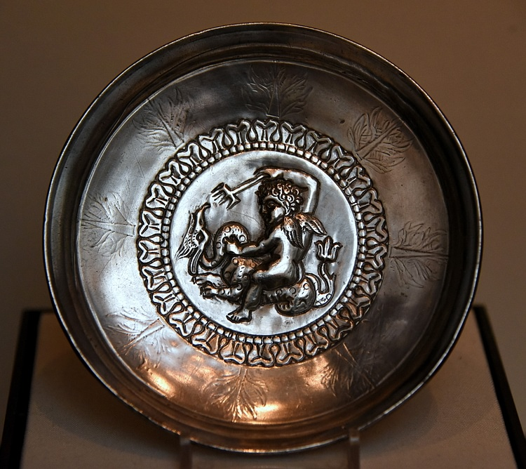 Byzantine Silver Dish with Pagan Imagery