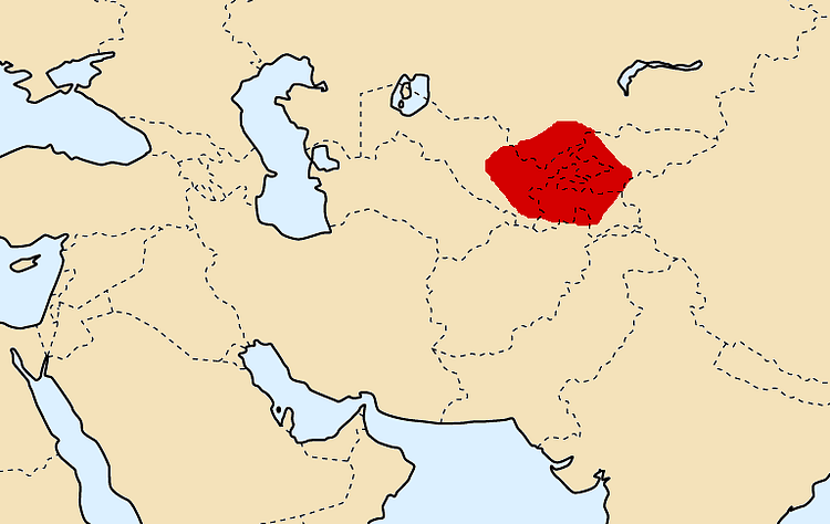 Map of Sogdiana, ca. 300 BCE (Cp)
