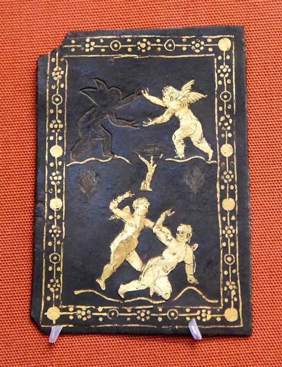 Bronze Plaque Showing Cupids Wrestling & Boxing