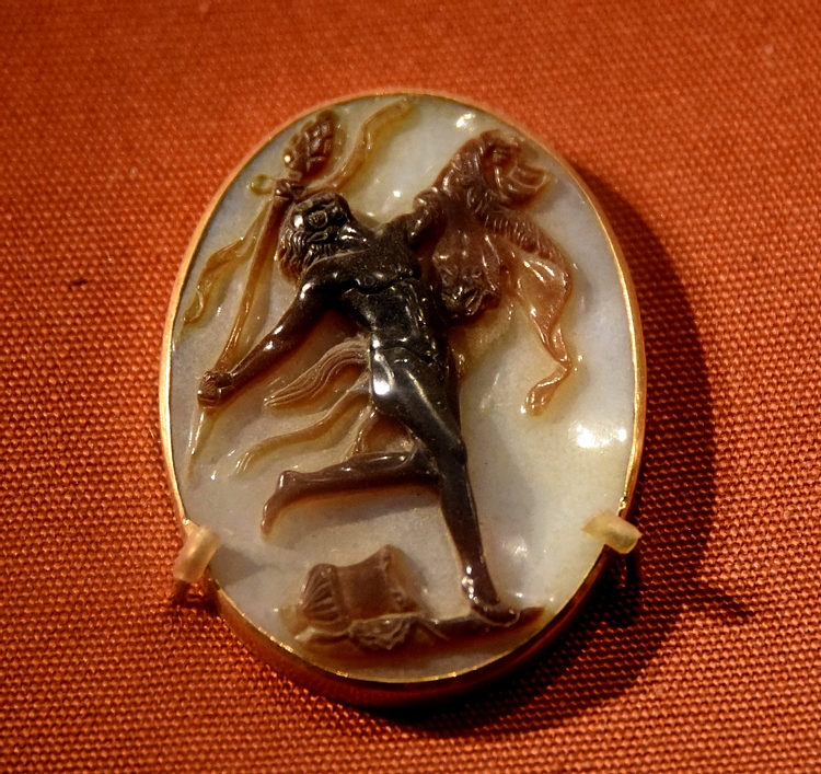 Sardonyx Cameo Showing a Dancing Satyr