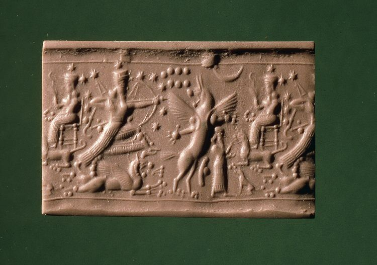 Cylinder Seal with Ninurta (The Trustees of the British Museum)