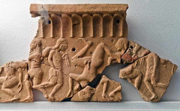 Bailarines etruscos, Acquarossa (Dan Diffendale)