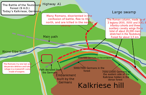 Battle of Teutoburg Forest Map