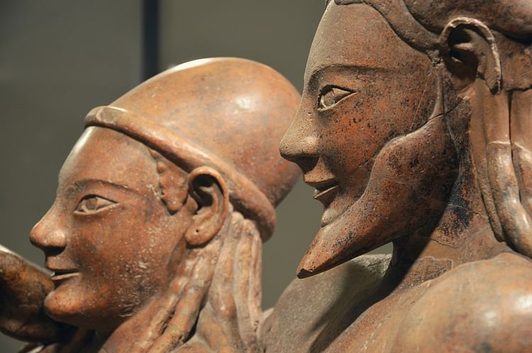 Etruscan Sarcophagus of the Spouses (detail) (Carole Raddato)