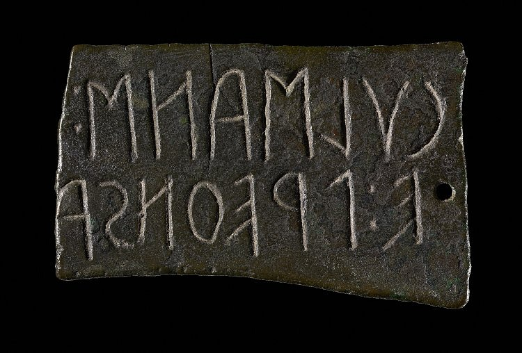 Etruscan Inscription Plaque (The British Museum)