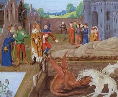 Vortigern encontra Merlin
