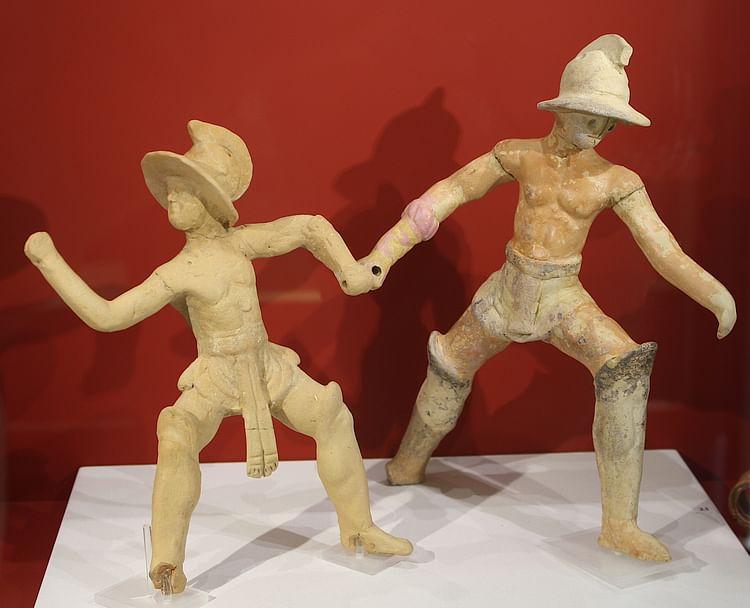 Gladiadores romanos de terracota ()