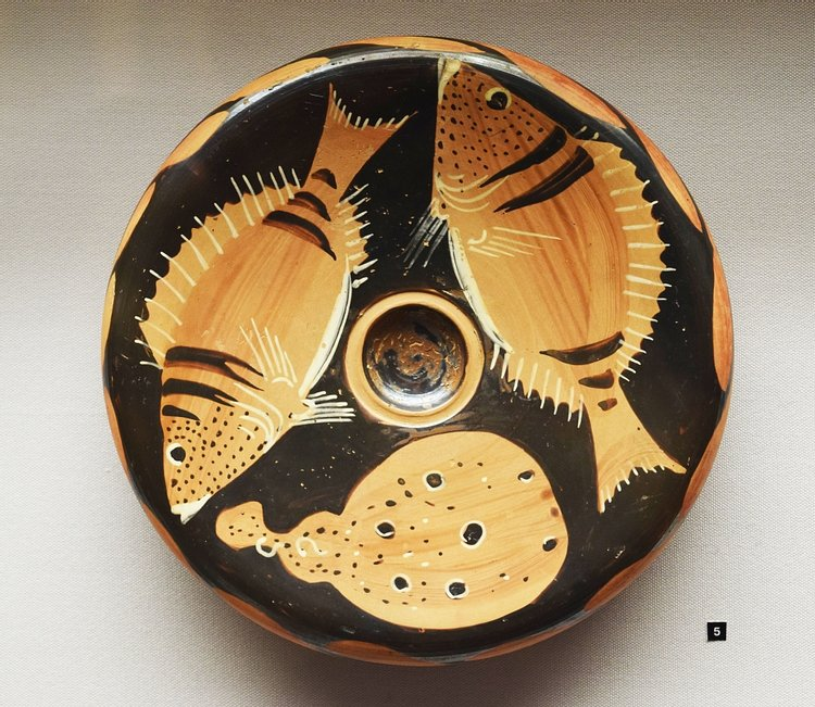 Ancient Fish Plate from Campania