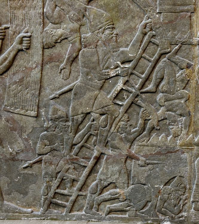 Assyrian Army Besieges a City
