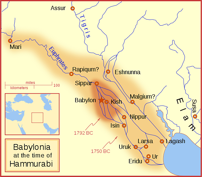Babylon Ancient History Encyclopedia - Map of egypt 2000 bc