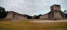 The Great Ball Court at Chichen Itza