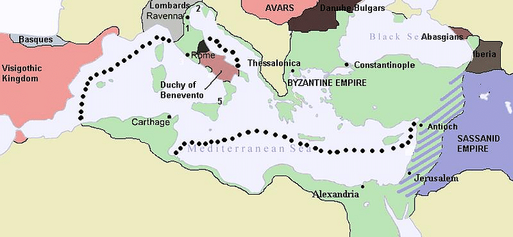 Byzantine Empire c. 626 CE