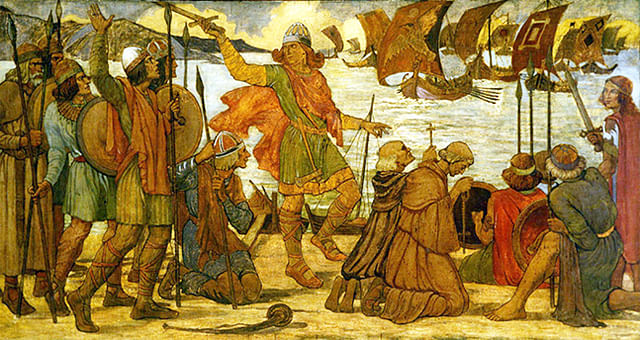 The Vikings in Dublin, 841 CE