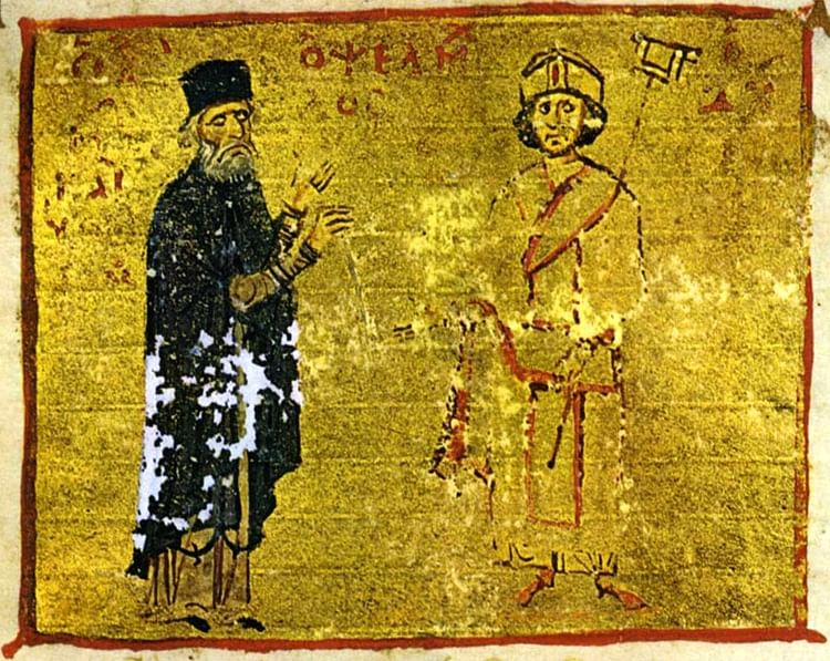 Michael Psellos & Michael VII (Unknown Artist)