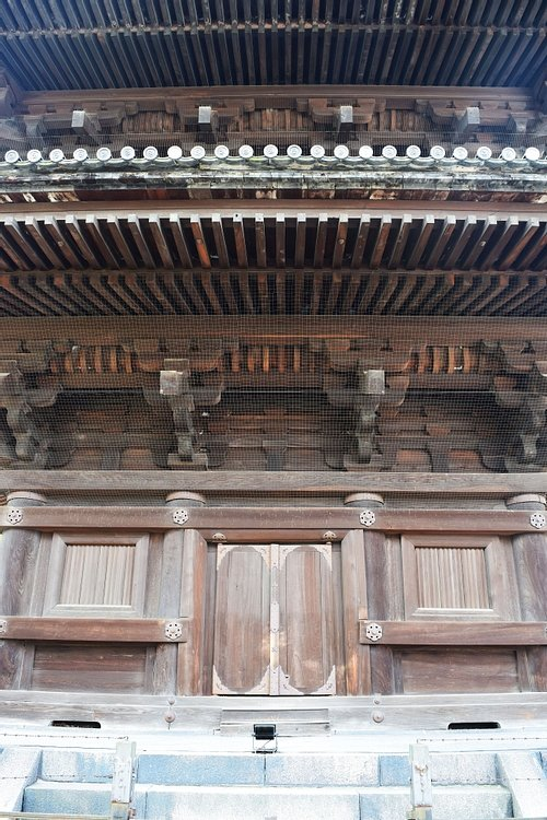Façade and Detail of Toji Temple's Pagoda