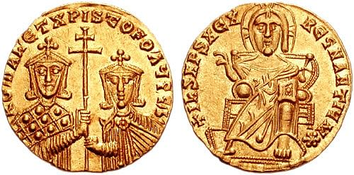 Gold Coin of Romanos I (Classical Numismatic Group, Inc.)