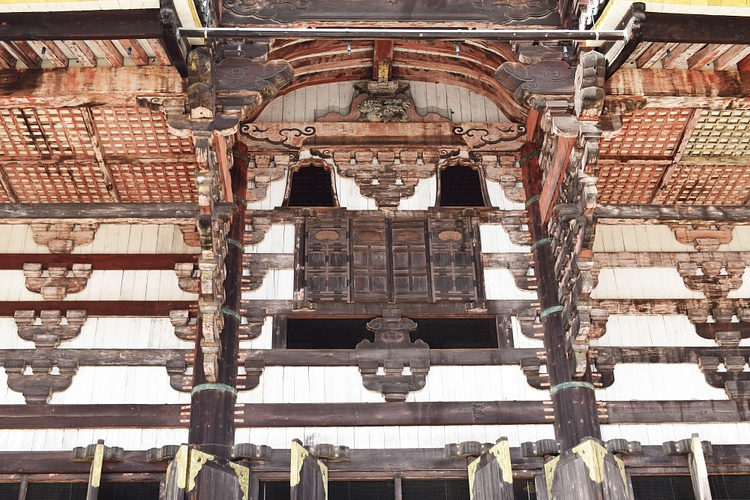 Façade of Daibutsuden or Great Buddha Hall of the Todaiji Temple Complex