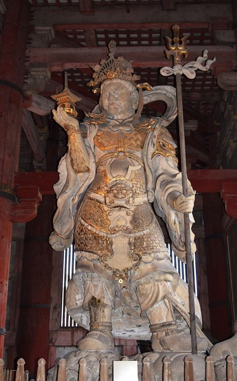 Statue of Buddhist Guardian Tamonten