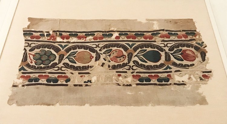 Coptic Fruited Medallion Scroll Band