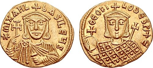 Michael II y Theophilos (Classical Numismatic Group, Inc.)