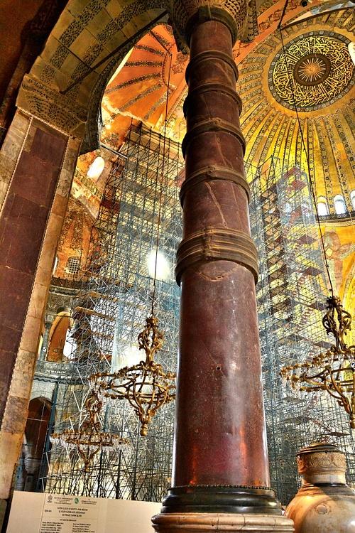 Column Of Hagia Sophia Illustration Ancient History Encyclopedia